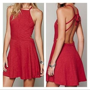 Free People Tatiana Sexy Back Red Dress Size S